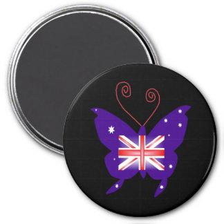 Britischer Diva-Schmetterling Magnets