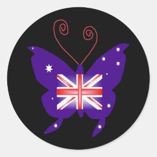 Britischer Diva-Schmetterling Runder Aufkleber