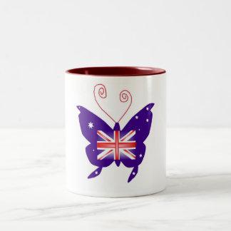 Britischer Diva-Schmetterling Tassen