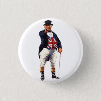 Britischer John Stier Runder Button 3,2 Cm