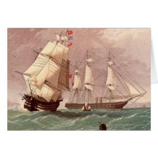 Britischer Kriegsschiff HMS Krieger Grußkarte