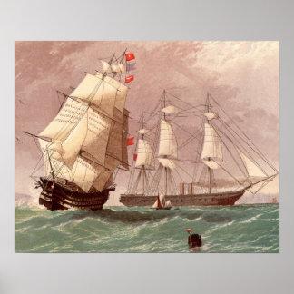 Britischer Kriegsschiff HMS Krieger Poster