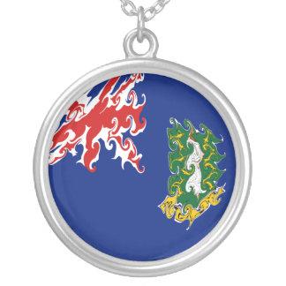 British- Virgin Islandsflagge Halskette Mit Rundem Anhänger