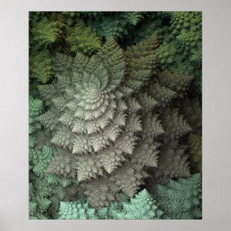 Brokkoli des Fraktal-3D Poster