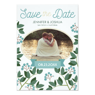 Brombeere Save the Date Karte