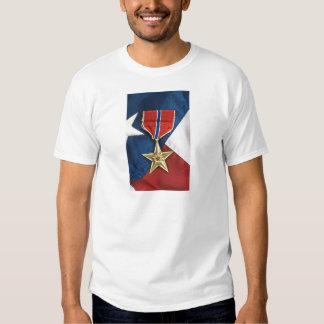 Bronzestern auf amerikanischer Flagge Shirt