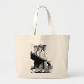 Brooklyn-Brücken-Fähren 1896 Jumbo Stoffbeutel