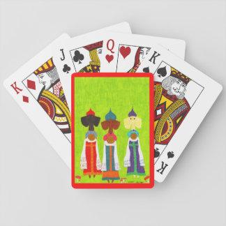 Brot-und Salz-Mädchen Spielkarten