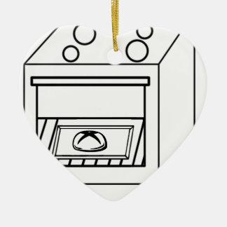 Brötchen im Ofen, lustiges Baby in der schwangeren Keramik Ornament
