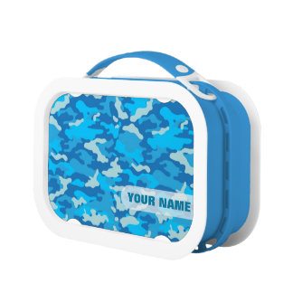 Brotdose der Armee-Tarnungs-(blaue Farbe)