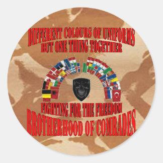 Brotherhood of Military Comrades Runder Aufkleber