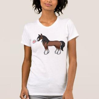 Brown-Cartoon-Sinti und Roma Vanner Grafschaft T-Shirt