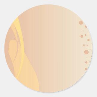 Brown-Hintergrund Runder Aufkleber