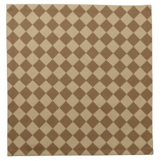 Brown-Kombinations-Diamant-Muster durch STaylor Serviette