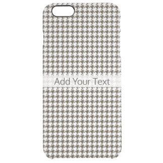 Brown-Kombinations-Hahnentrittmuster durch Shirley Durchsichtige iPhone 6 Plus Hülle