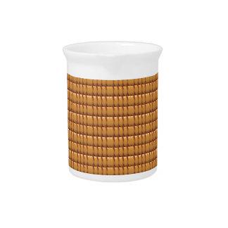 Brown-KRISTALL Schablone Getränke Pitcher