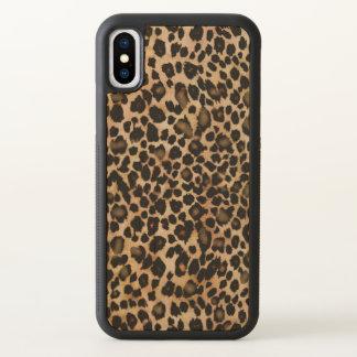 Brown-Leopard-Tierdruck-Kasten iPhone X Hülle