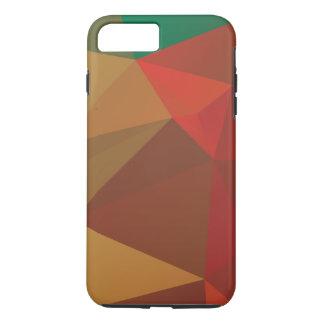 Brown mit Rot und Grün verblaßte polygonal iPhone 8 Plus/7 Plus Hülle