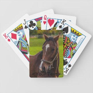 Brown-Pferdeporträt Bicycle Spielkarten