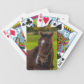 Brown-Pferdeporträt Pokerkarten