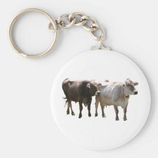 Brown-Schweizer-Kühe Schlüsselanhänger