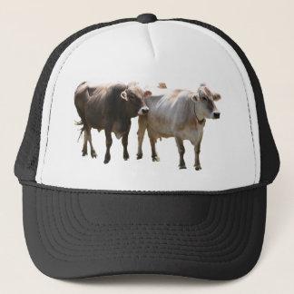 Brown-Schweizer-Kühe Truckerkappe
