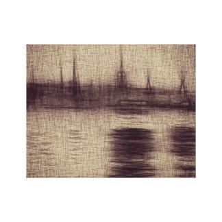 "Brown-Skizze 14"" x 11"", 1,5"", Single Gespannte Galerie Drucke"