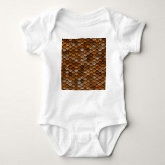 Brown stuft Muster ein Baby Strampler