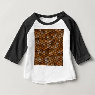 Brown stuft Muster ein Baby T-shirt