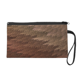 Brown TAN Tartan-Feder-MusterWristlet