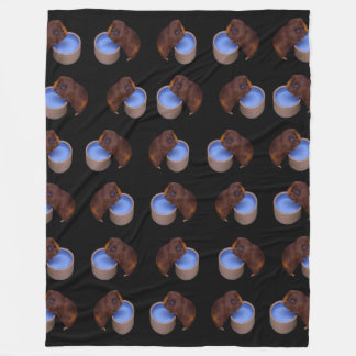 Brown_Thirsty_Guinea_Pig, _Large_Fleece_Blanket. Fleecedecke