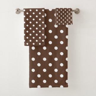 Brown-Tupfen Badhandtuch Set