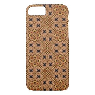 Brown- und Creme-Mosaik-Muster iPhone 8/7 Hülle
