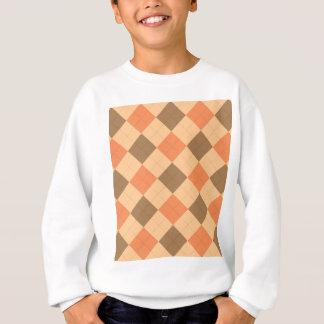 Brown und orange Rautenmuster Sweatshirt