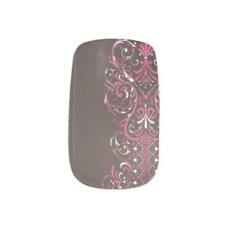 Brown und rosa Nagel-Kunst Nagelaufkleber