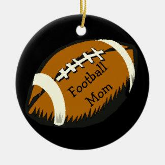 Brown und schwarze Fußball-Mamma-Sport-Verzierung Keramik Ornament