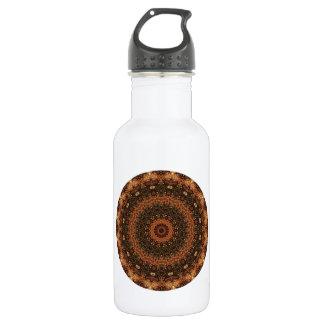 """Brown """"Weg im Holz"""" Mandala-Kaleidoskop Trinkflasche"""