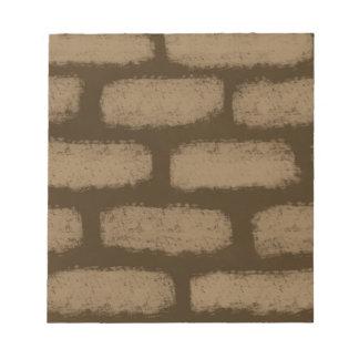 Brown-Ziegelstein-Muster Memo Blöcke