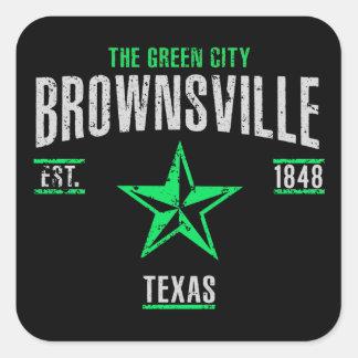 Brownsville Quadratischer Aufkleber