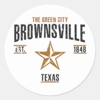 Brownsville Runder Aufkleber