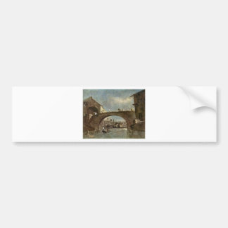 Brücke bei Dolo durch Francesco Guardi Autoaufkleber