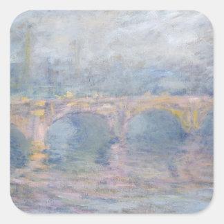 Brücke Claude Monets | Waterloo, London, am Quadratischer Aufkleber