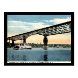 Brücke über dem Hudson, Poughkeepsie Vintag Postkarte