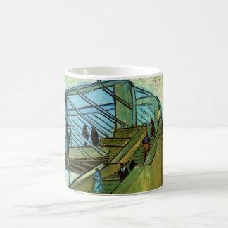 Brücke Van Gogh Trinquetaille, Vintage feine Kunst Tasse
