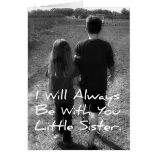 Bruder-kleine Schwester Karte