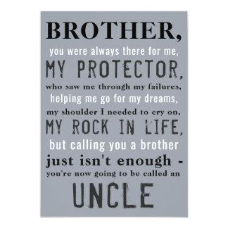 Bruder und Onkel Pregnancy Announcement 12,7 X 17,8 Cm Einladungskarte