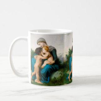 Brüderliche Liebe, Mutter mit Kindern durch Tasse