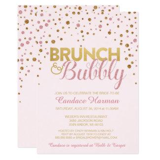 Brunch u. sprudelnde Glitter-Brautparty-Einladung 12,7 X 17,8 Cm Einladungskarte