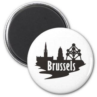 Brüssel Runder Magnet 5,7 Cm