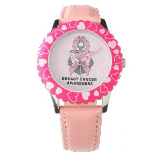 Brustkrebs-Anker der Hoffnung Armbanduhr